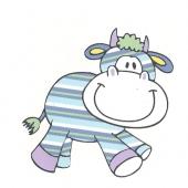 Vesela kravica   ( 7,5 x 7,5 cm )