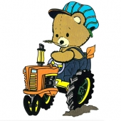 Medvedek na traktorju (  14 x 21 cm )