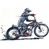 Motorist  ( 22 x  14,5 ) cm