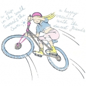 Punca na kolesu ( 21 x 19 cm.)