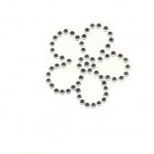 Rožica ( srebrni kristali ) ( 4,5 x 4,5 cm.)