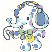 Slonček z MP3  ( 12,5  x 13,5 cm )