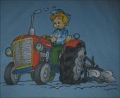 Traktor ki orje ( 19 x 16 cm )