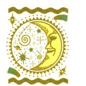 Zlata luna  ( 12  x 15 cm )