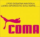 COMA ( 18 x 9 cm.)