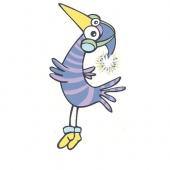 Ptica ( 6 x 10,5 cm.)