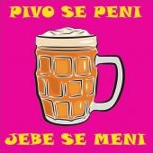 PIVO SE PENI ( 23  x 23 cm.)