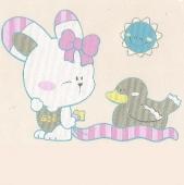 Zajček z račko (  13 x 9 cm )